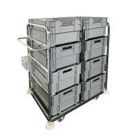 Chariot de préparation de commande - Bacs de stockage inclus