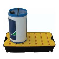 Bac de rétention avec caillebotis 805x405x155mm
